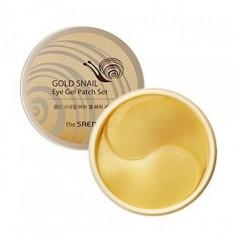 патчи с экстрактом муцина улитки для век the saem gold snail eye gel patch set