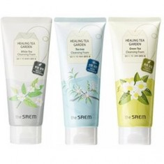 очищающая пенка the saem healing tea garden cleansing foam