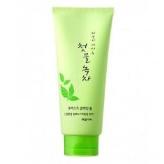 маска-пленка для лица очищающая welcos green tea purifying peel off pack