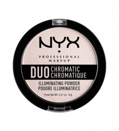 NYX PROFESSIONAL MAKEUP Сухой хайлайтер Duo Chromatic Illuminating Powder - Snow Rose 04