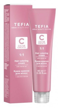 TEFIA 4.3 краска для волос, брюнет золотистый / Color Creats 60 мл