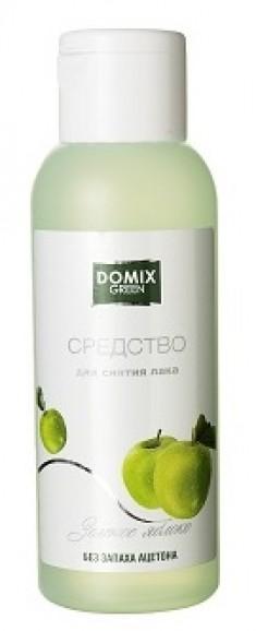 DOMIX GREEN PROFESSIONAL Средство без запаха ацетона для снятия лака Зеленое яблоко / DG 105 мл