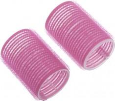 DEWAL BEAUTY Бигуди-липучки розовые, d 24x63 мм 10 шт