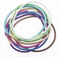 DEWAL BEAUTY Резинки для волос midi блестящие, цветные 8 шт