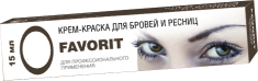 FARMAVITA Краска для бровей и ресниц, натуральный коричневый / FAVORIT 15 мл