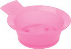 DEWAL PROFESSIONAL Чаша для краски с ручкой, с резинкой на дне (розовая) 300 мл