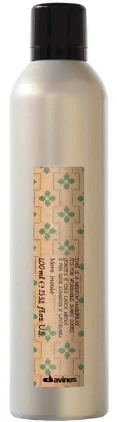 DAVINES SPA Лак средней фиксации для эластичного глянцевого стайлинга / More Inside Medium Hold Hair-spray 400 мл
