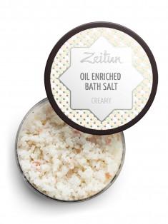 Сливочная ароматическая соль для ванн с маслом миндаля и козьим молоком