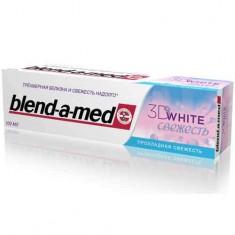 Паста зубная BLEND-A-MED 3D WHITE Бодрящая свежесть 100 мл
