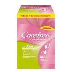 CAREFREE Cалфетки ежедневные с экстрактом хлопка ароматизированные в индивидуальной упаковке 20 шт.
