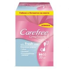 CAREFREE Салфетки Супертонкие Fresh scent ароматизированные в индивидуальной упаковке 20 шт.