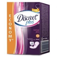 DISCREET Plus Женские гигиенические прокладки на каждый день Normal Plus Trio 50 шт.