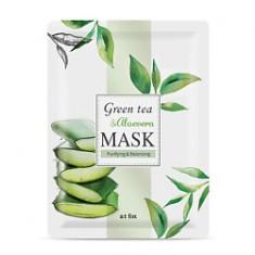 A;T FOX Маска для лица, очищающая и поддерживающая гидро-липидный баланс кожи GREEN TEA & ALOEVERA 20 мл