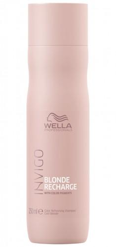 Wella Invigo Blonde Recharge Шампунь-нейтрализатор желтизны для холодных светлых оттенков 250мл