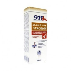 911 шампунь луковый от выпадения волос и облысения с красным перцем 150мл