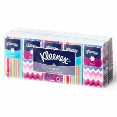 Kleenex Платочки носовые белые ORIGINAL спайка 10шт*10