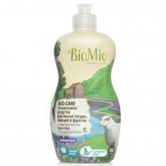 BIOMIO BIO-CARE средство для мытья посуды,овощей и фруктов с эфирным маслом лаванды и экстрактом хлопка 450мл