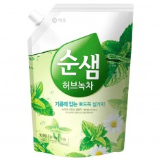 KeraSys средство для мытья посуды СУНСЭМ Зеленый чай 1200мл (запаска)