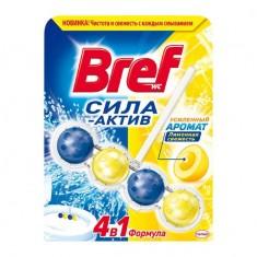 Bref Сила Актив Средство чистящее для унитаза блок Лимонная свежесть 50 г