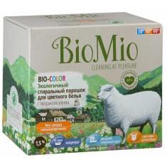 BIOMIO BIO-COLOR концентрированный стиральный порошок без запаха с экстрактом хлопка для цветного белья 1,5кг