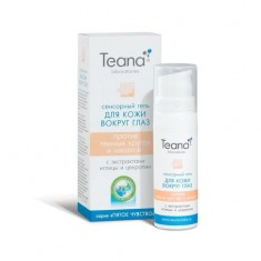 Teana/Теана Сенсорный гель для кожи вокруг глаз против темных кругов и мешков с экстрактом иглицы и цекропии 25 мл