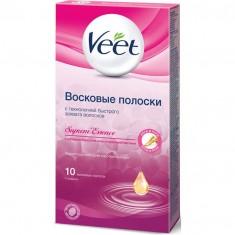 ВИТ полоски восковые с ароматом бархатной розы и эфирными маслами N10 Veet