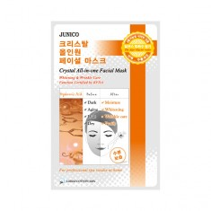 маска тканевая c гиалуровой кислотой  mijin junico crystal all-in-one facial mask hyaluronic