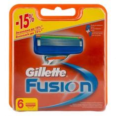 Кассеты для станка GILLETTE FUSION 6 шт