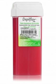 DEPILFLAX 100 Воск для депиляции в картридже, клубника 110 г
