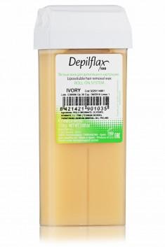DEPILFLAX 100 Воск для депиляции в картридже, слоновая кость 110 г