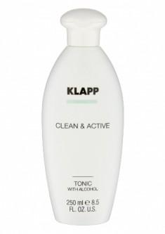Klapp Clean & active Тоник со спиртом, 250 мл