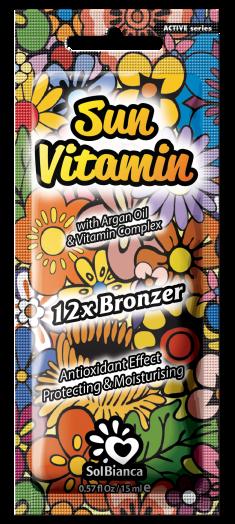 SOLBIANCA Крем с маслом арганы, витамином Е и бронзаторами для загара в солярии / Sun Vitamin 15 мл