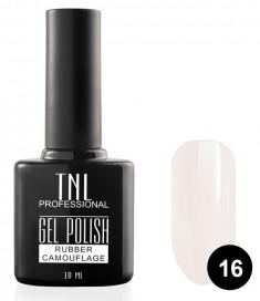 TNL PROFESSIONAL 16 гель-лак камуфлирующий для ногтей / rubber camouflage 10 мл