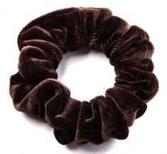 LA FRANCE Резинка бархатная малая, цвет коричневый