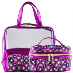 Набор косметичек LADY PINK METAL фиолетовый 4 шт
