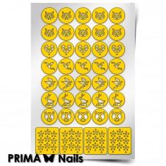 PrimaNails, Трафареты «Оригами» Prima Nails