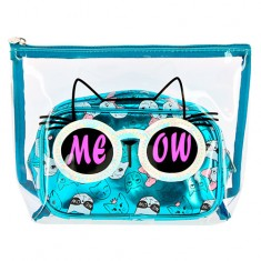 Набор косметичек LADY PINK CATS синий 2 шт