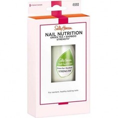 Средство 2в1 база и верхнее покрытие для восстановления и блеска Nailcare Nail Nutrition Green Tea + Bamboo Strength SALLY HANSEN