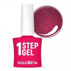 SOLOMEYA Гель-лак однофазный для ногтей, 33 аметист / One Step Gel Amethyst 5 мл