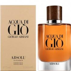 Парфюмированная вода мужская Aqua-gio Absolu 75 мл GIORGIO ARMANI