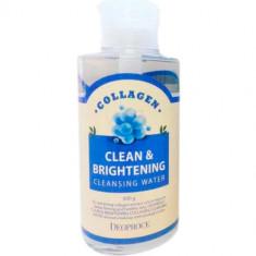 Вода очищающая с коллагеном Clean & Brightening Collagen Cleansing Water DEOPROCE