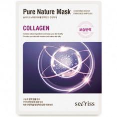 Маска для лица тканевая Anskin Secriss Pure Nature Mask Pack- Collagen 25мл