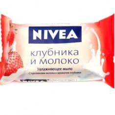 Нивея Мыло-уход Клубника и Молоко 90г NIVEA