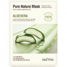 Маска для лица тканевая Secriss Pure Nature Mask Pack- Aloevera 25мл ANSKIN