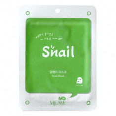 Маска тканевая улиточная Mijin MJ on Snail mask pack 22гр