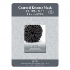 Маска тканевая древесный уголь Mijin Charcoal Essence Mask 23гр
