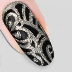 гель-арабеска серебро nika nagel 5 мл