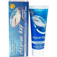 Крем-снадобье с Конским каштаном и корой ивы для ног с антиварикозным эффектом Акулий жир Акулья сила