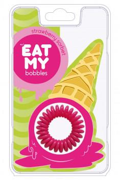 EAT MY bobbles Резинка для волос в цвете Клубничный сорбет