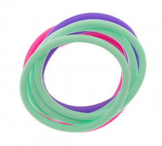DEWAL BEAUTY Резинки для волос, силикон, фиолетовый, розовый, зеленый 12 шт